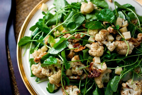 Meals That Heal – Roasted Cauliflower Salad With Watercress, Walnuts and Gruyère